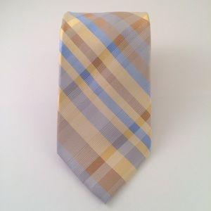Perry Ellis Blue Yellow Gold Striped Men's Tie